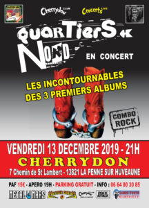Quartiers Nord, combo 100% rock au Cherrydon, 13 décembre 2019
