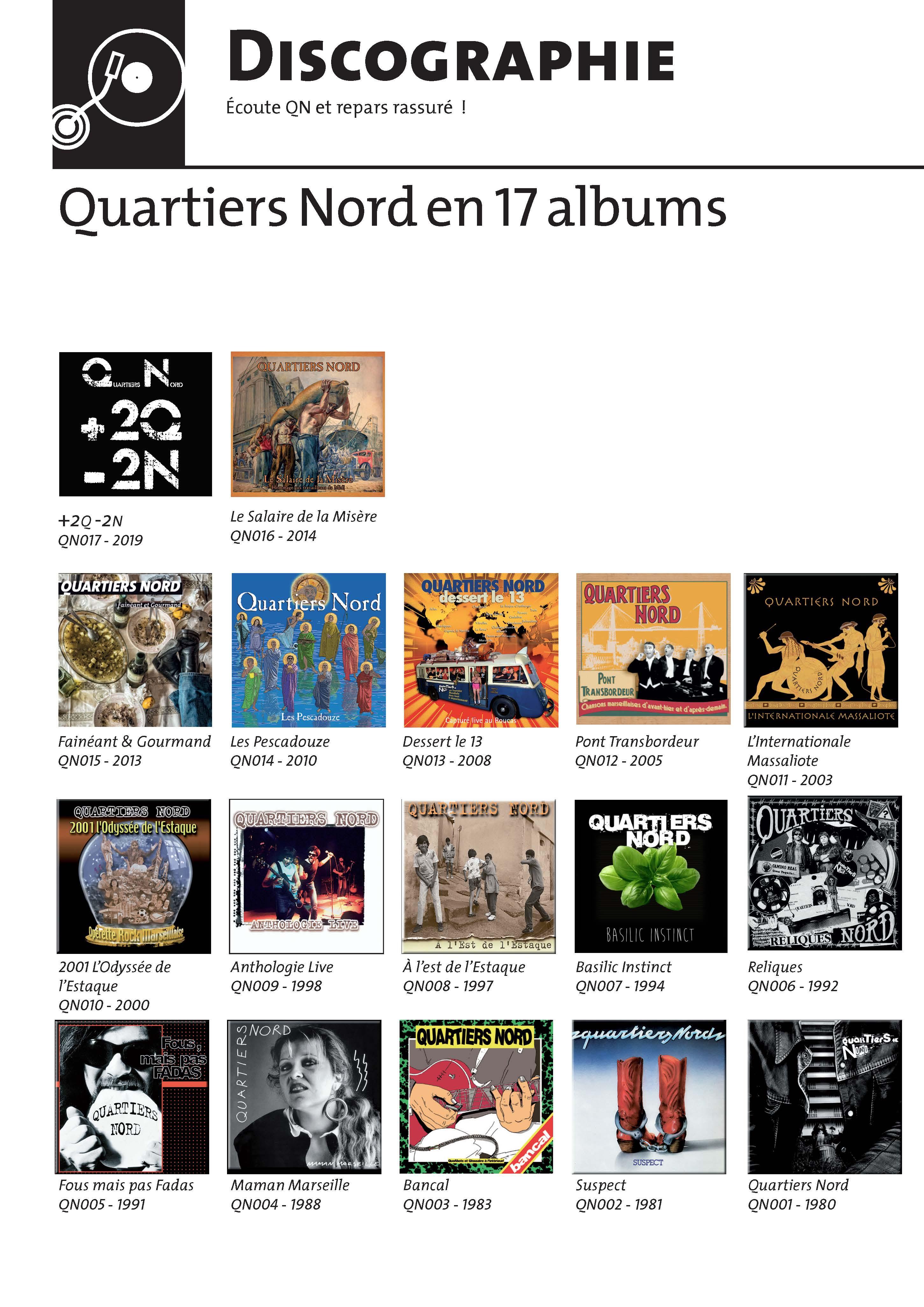 Quartiers Nord - Les albums